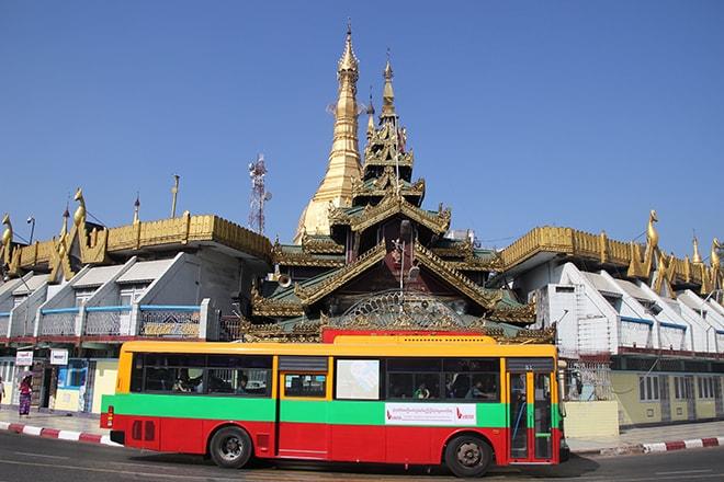 Se déplacer en bus dans Yangon