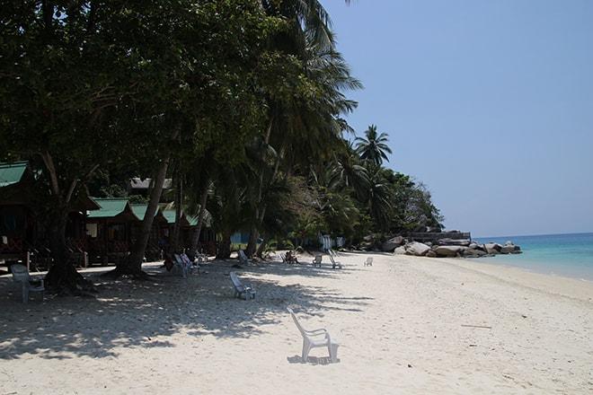 Plage paradisiaque îles Perhentian en Malaisie