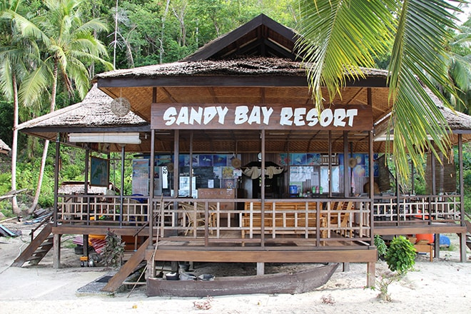 Accueil Sandy Bay Resort Malengue iles Togian