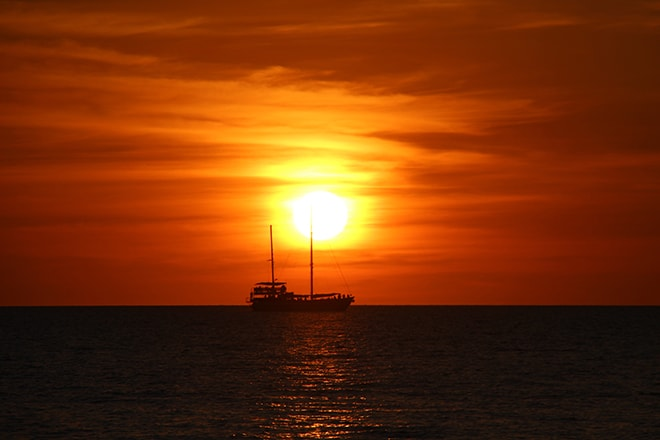 Coucher de soleil Mindil Beach Darwin Australie