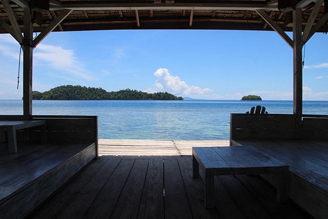 Espace de repos Black Marling Dive Resort Kadidiri iles Togian