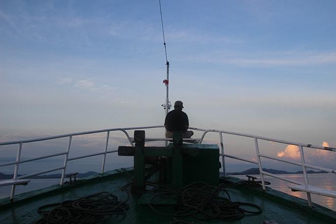 Ferry de Malengue a Wakai rejoindre les îles Togian