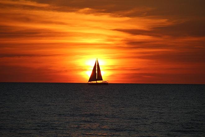Sunset Mindil Beach Darwin Australie