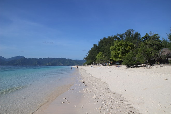 plage sable Gili Meno Indonesie