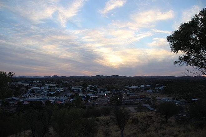 Coucher de soleil Alice Springs Australie