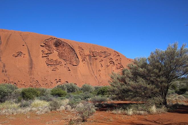 Crane sur Uluru