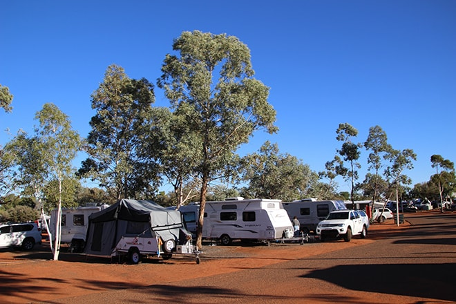 Emplacement powered camping Uluru