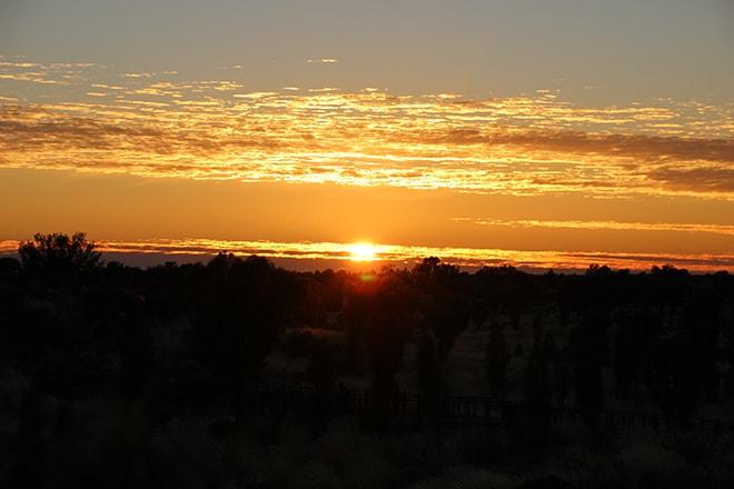 Lever de soleil Uluru