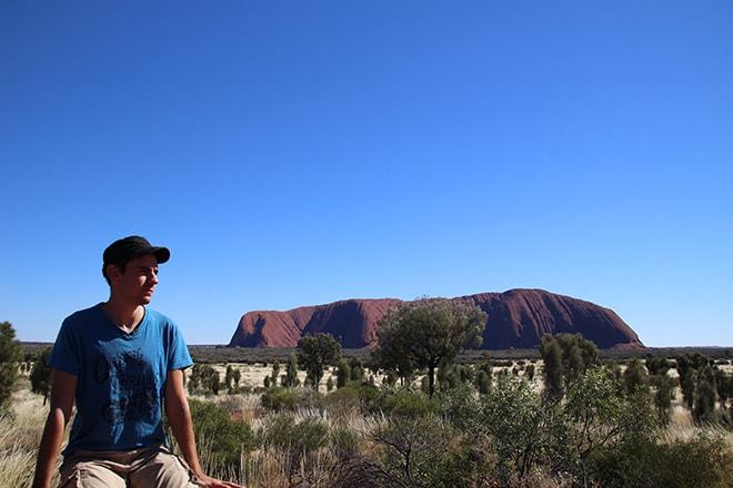 Tom et Uluru