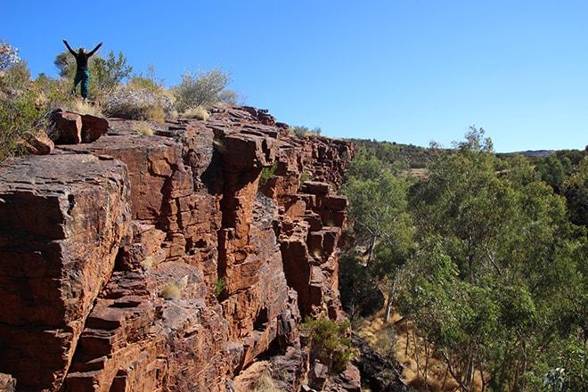 Trephina Gorge MacDonnell Range Alice Springs Australie