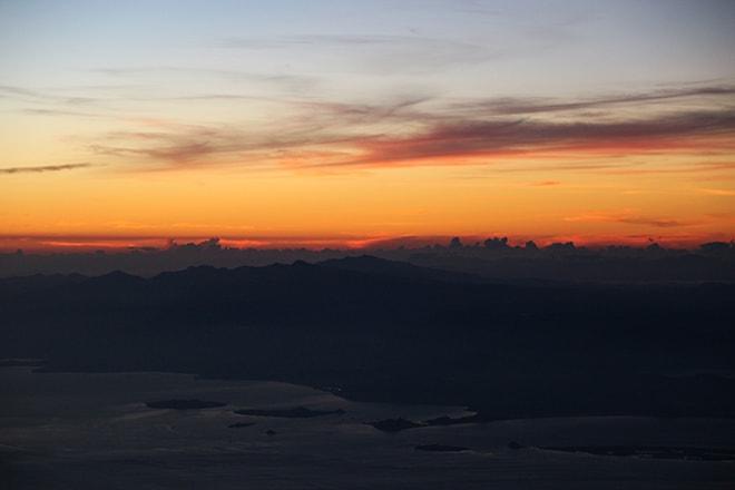 Lever de soleil Mont Rinjani Lombok Indonésie
