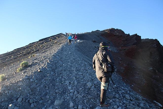 Montée finale cratère Rinjani