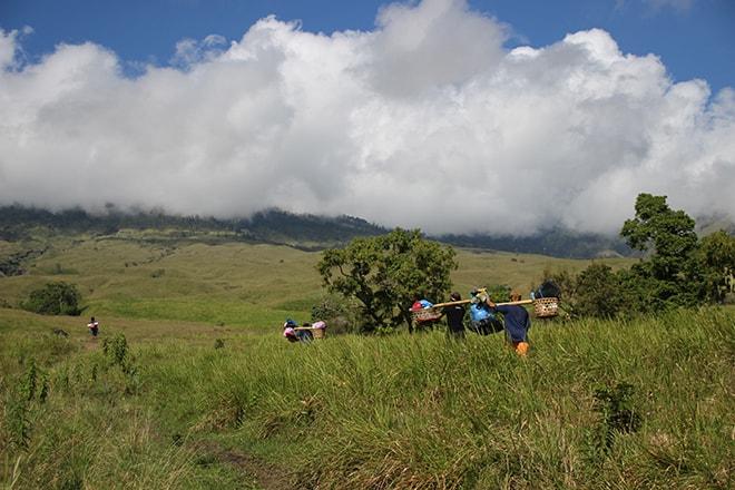 Porteurs Trek 3 jours Rinjani Lombok