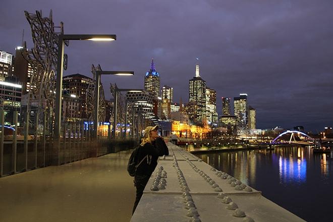 Elo centre ville Melbourne Australie nuit