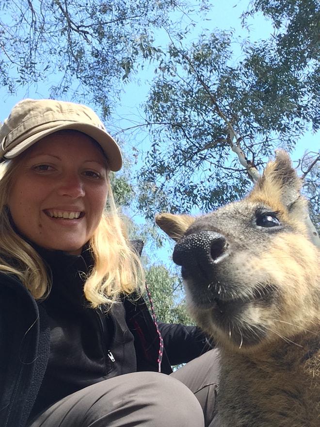 Elo selfie kangourou
