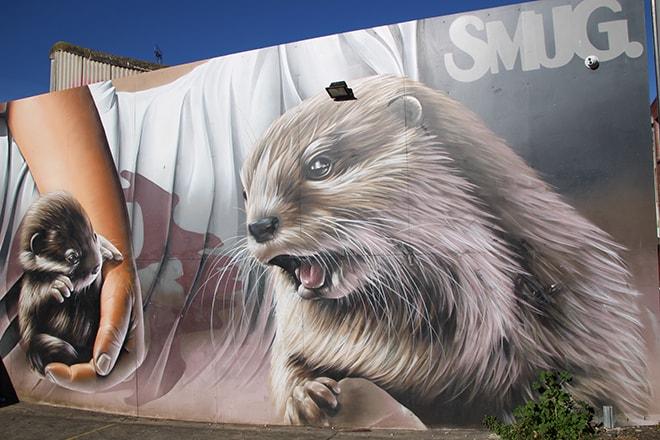 Loutres Street Art Fitzroy Melbourne Australie