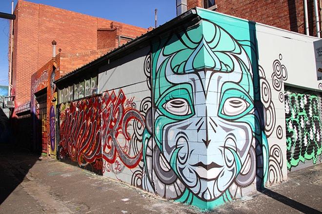 Mural Fitzroy Melbourne Australie