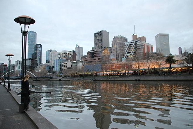 Quai de la Yarra Melbourne Australie