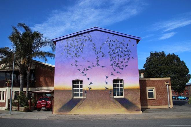 Street Art amoureux Port Adelaide Australie