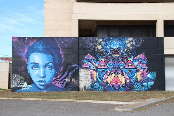 Street Art rue Port Adelaide Australie