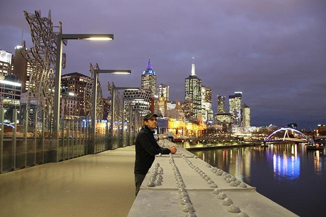 Tom pont Melbourne Australie