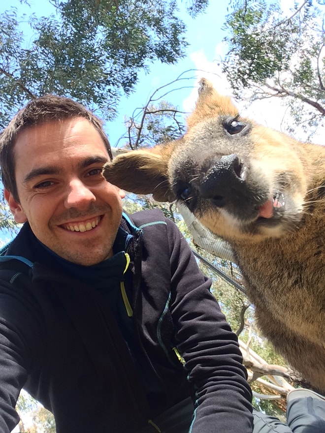Tom selfie Kangourou