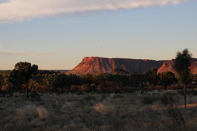 Coucher de soleil Kings Canyon Australie