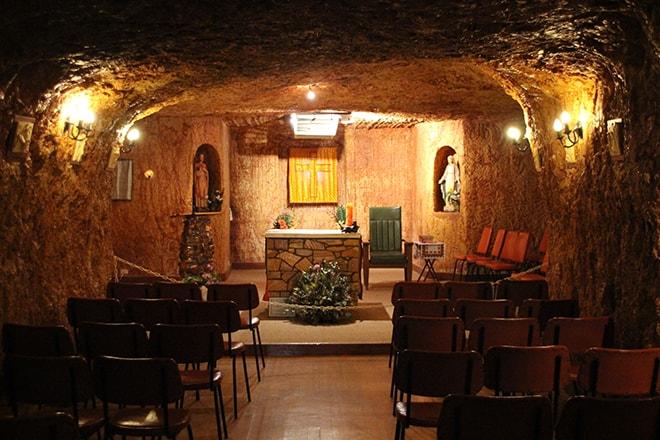 Eglise souterraine Coober Pedy