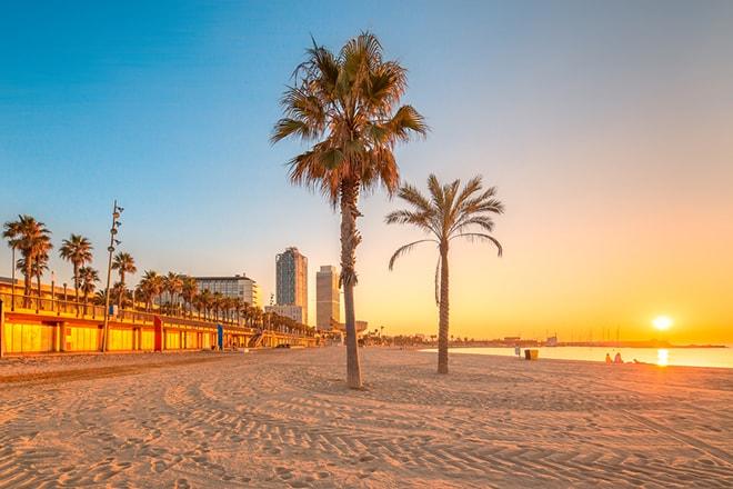 Barceloneta sous le soleil !