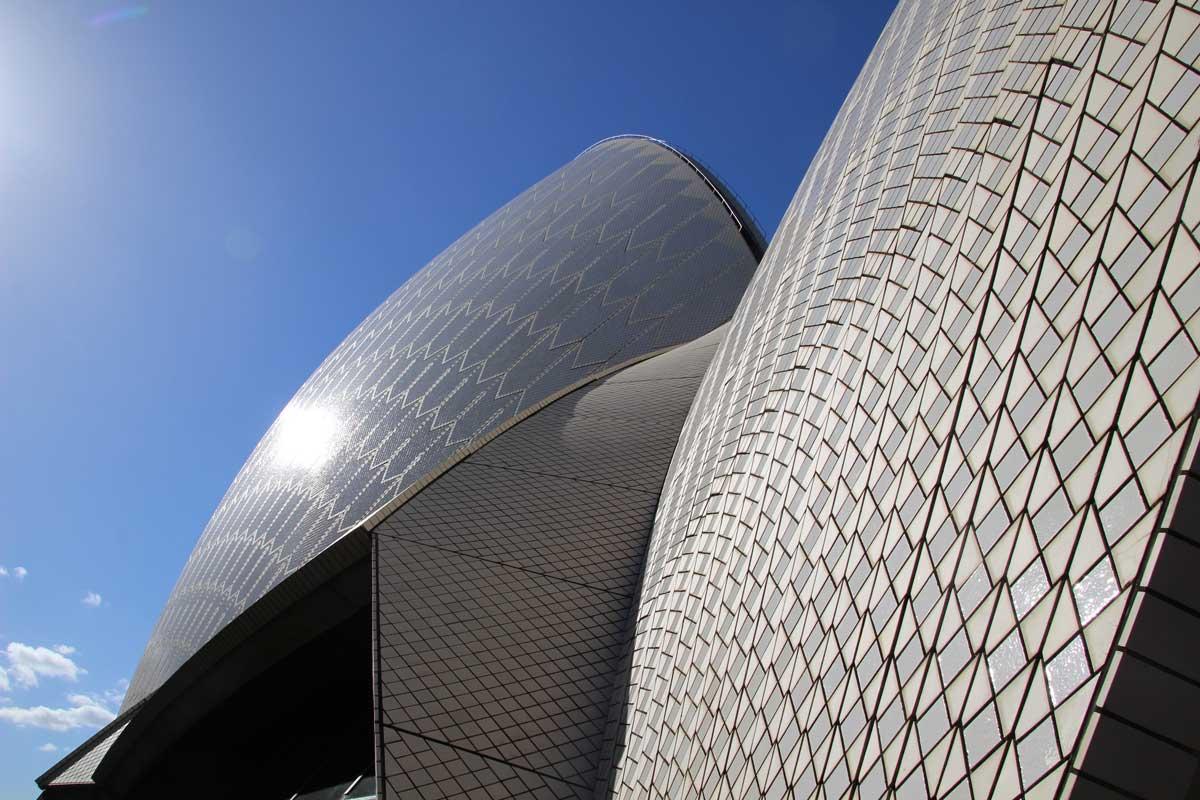Architecture toit opera Sydney Australie