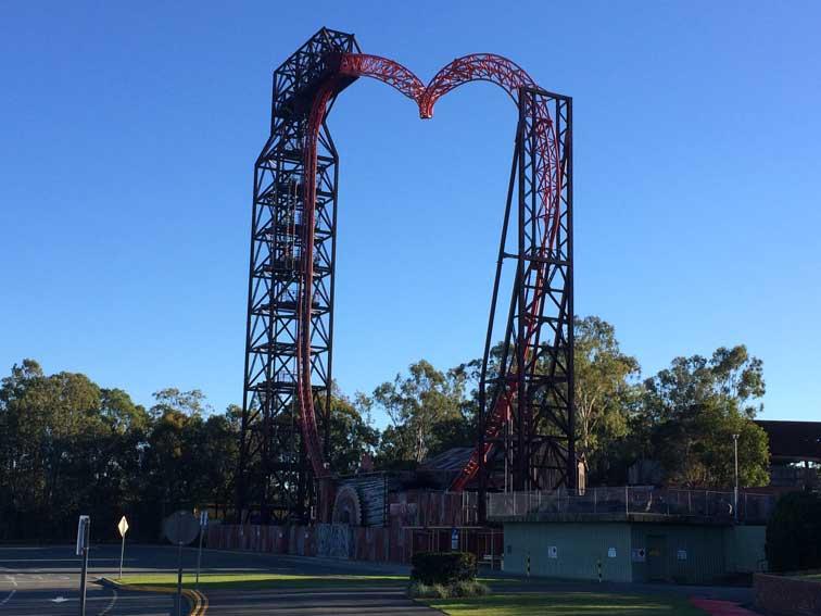 Attraction coeur Dreamworld Gold Coast Australie