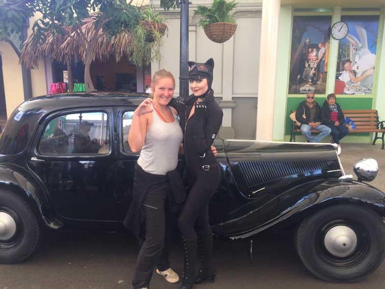 Elo et Catwoman Movie World Australie