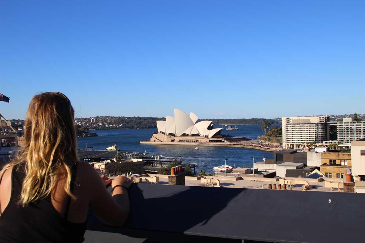 Elo vue opera rooftop YHA Sydney Australie