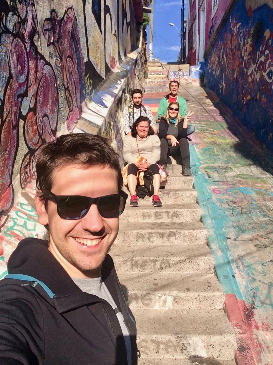 Escalier famille Valparaiso Chili