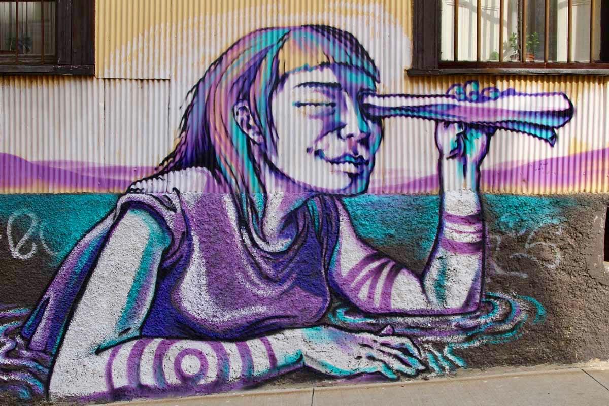 Fille street art