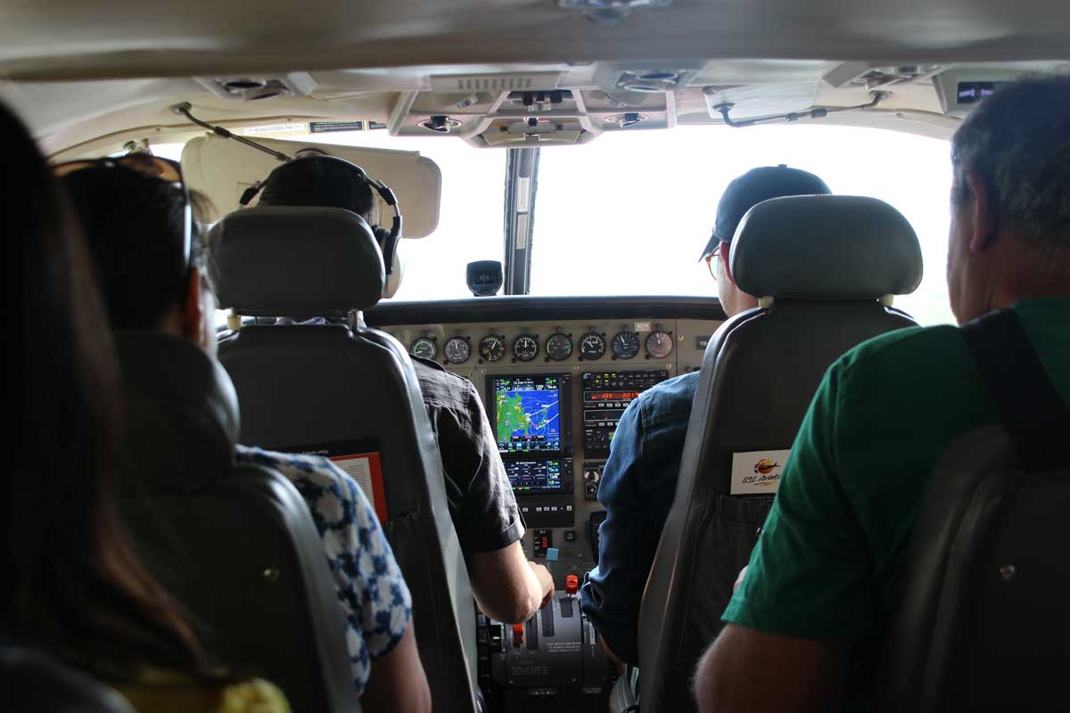 Interieur avion GLS Whitsundays Australie