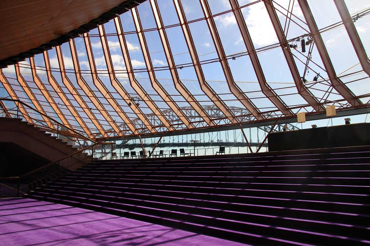 Interieur couloir opera Sydney Australie
