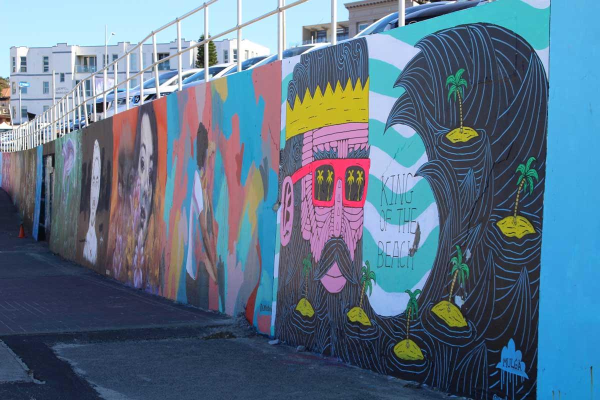 Mur Street Art Bondi Beach Sydney Australie