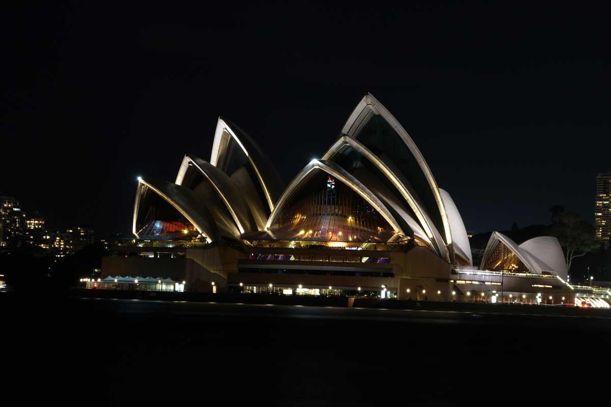 Opera de nuit Sydney Australie