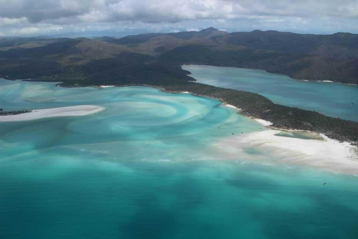 Point de vue avion Whitsundays Australie