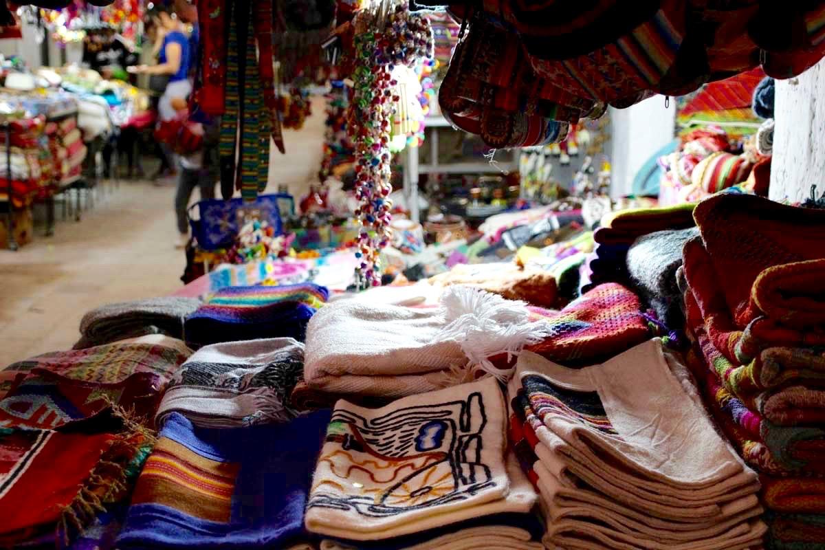 Produits alpaga marche San Pedro de Atacama Chili