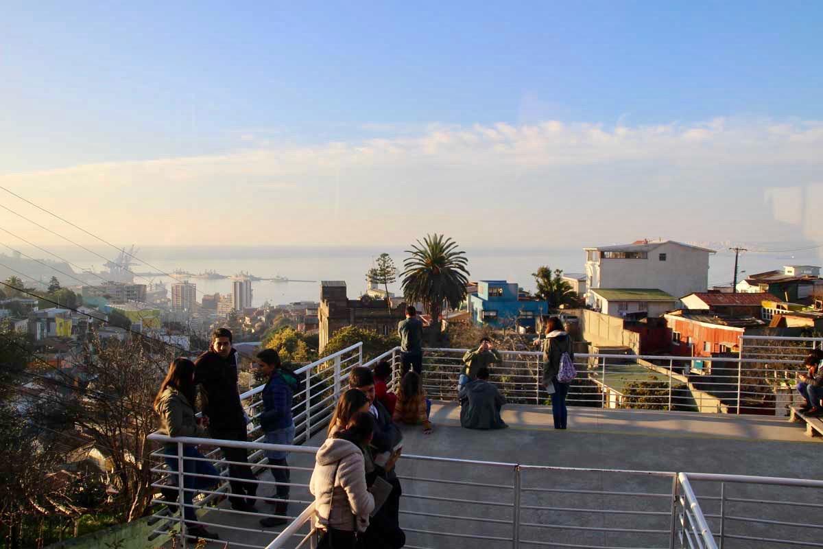 Terrasse maison Neruda Valparaiso Chili
