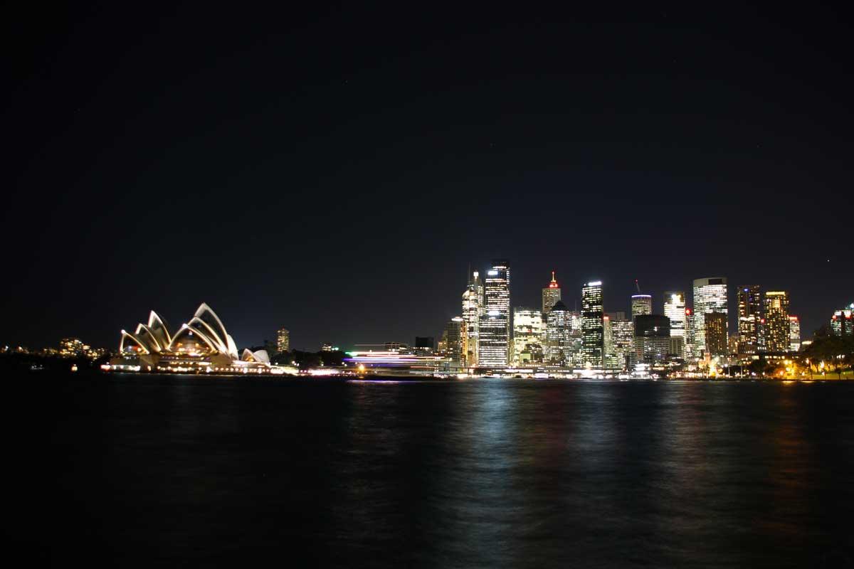 Vue Skyline opera de nuit
