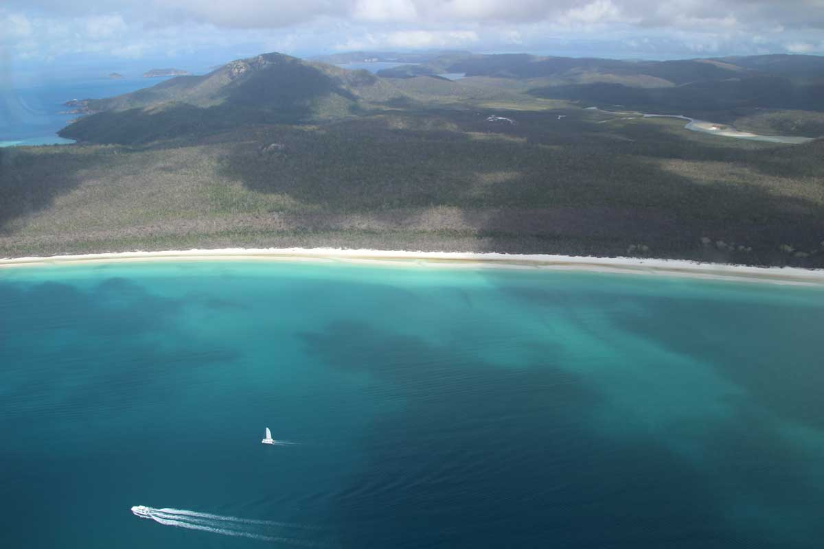 White Haven Beach vue avion