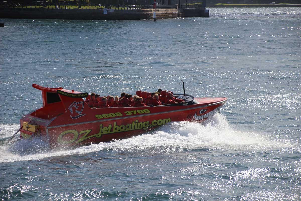 bateau oz jet boat Sydney Australie