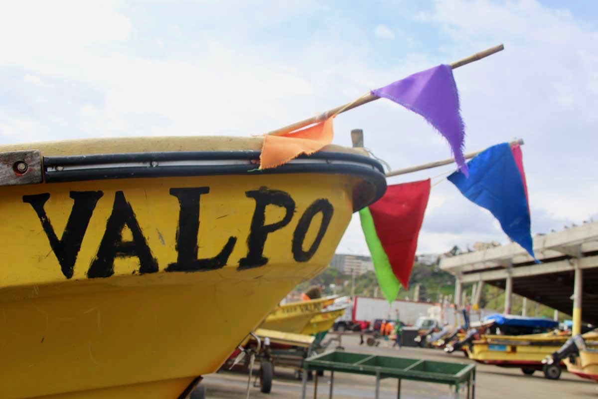 bateau port Valparaiso Chili