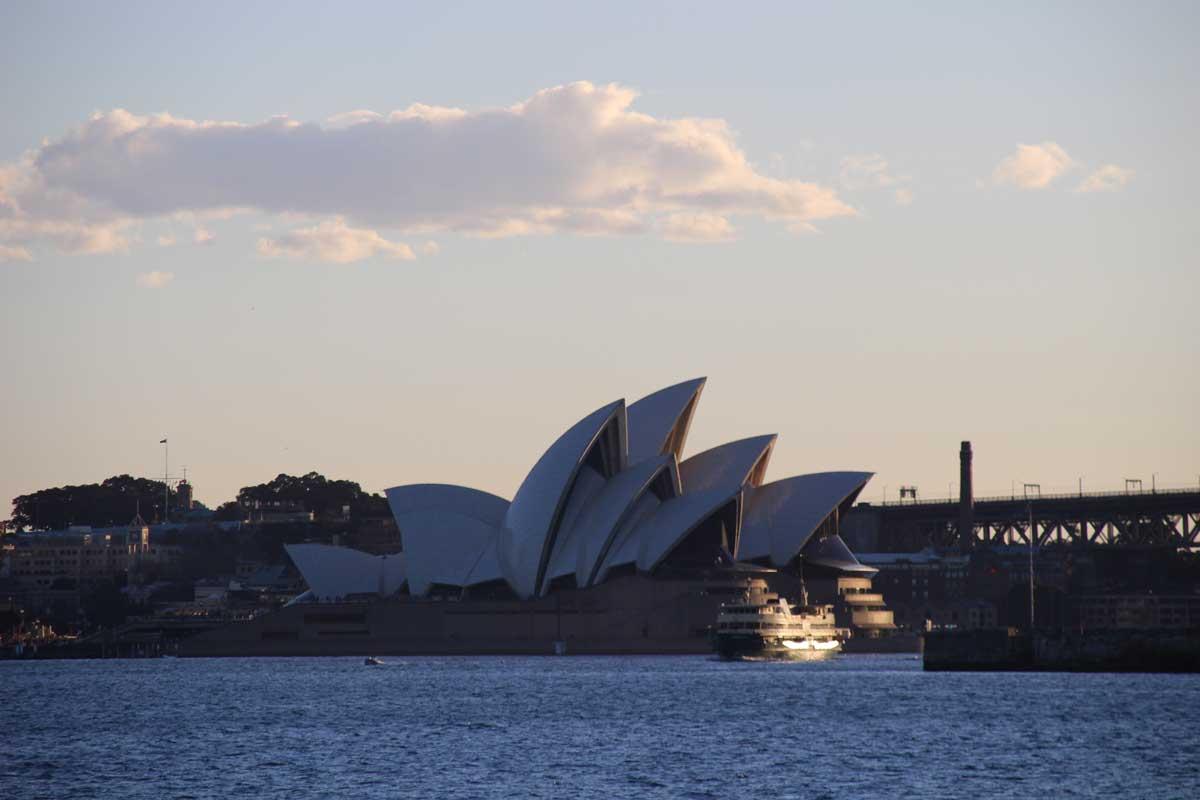 coucher de soleil opera Sydney Australie