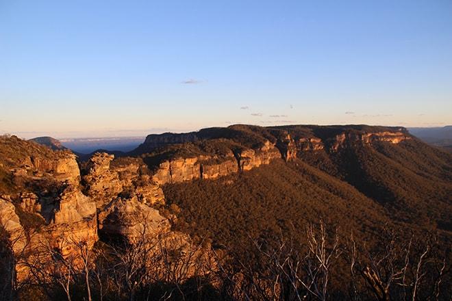 blue mountains coucher de soleil