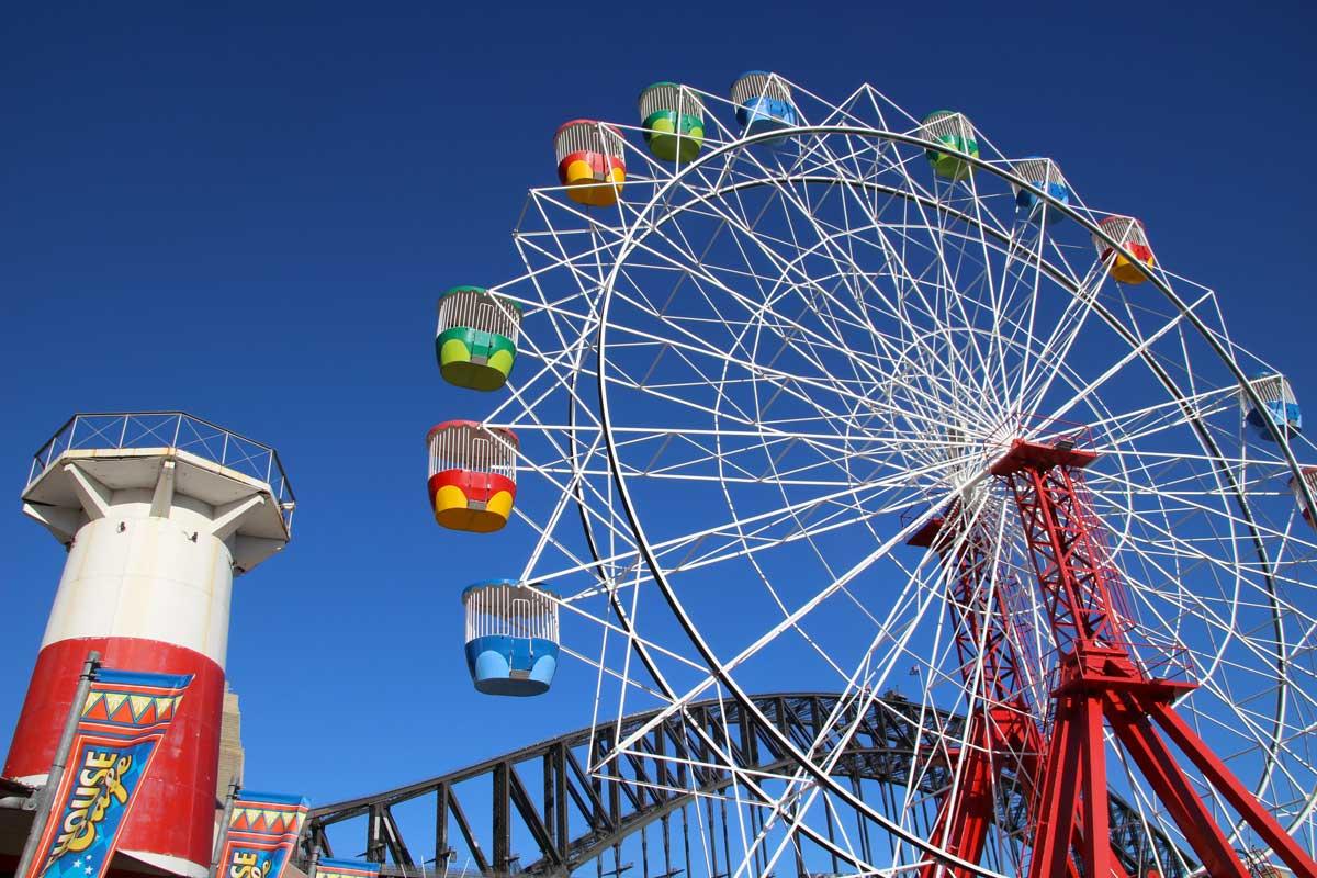 grand roue luna park Sydney Australie