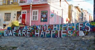 we are not hippies we are happies Valparaiso Chili